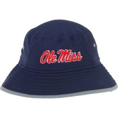 New Era Men's University of Mississippi Training Bucket Hat (Navy, Size One Size) - NCAA Licensed Product, NCAA Men's Caps at Academy Sports