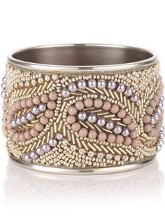 beaded bangle, pretty will have make one like this