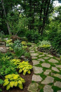 Garden Planning Top 10 Shade Garden Ideas For The Backyard Backyard Garden Landscape, Small Backyard Gardens, Diy Garden, Garden Paths, Backyard Landscaping, Modern Backyard, Landscaping Company, Garden Planters, Backyard Walkway
