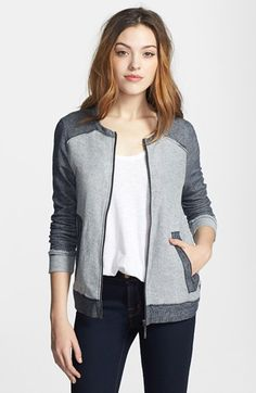 kensie French Terry Jacket available at #Nordstrom