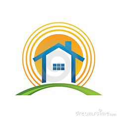 House with sun vectors - Search Clip Art, Illustration, Drawings and EPS Graphics Images - Architecture Blueprints, Architecture Logo, Residential Architecture, Sun Stock, People Logo, Marketing Logo, Logo Creation, Real Estate Logo, Home Logo