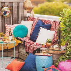 Terrasse patio coloré été......