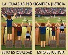 La igualdad no significa Justicia