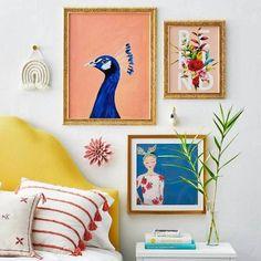 Pelham Nightstand White - Threshold La Croix Valmer, Frames On Wall, Framed Wall, Gold Frames, New Wall, Flower Frame, Abstract Wall Art, Bedroom Wall, Bedroom Inspo