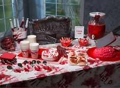 Drive them mad with a deranged asylum dinner for your Halloween party!