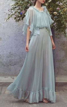 Chiffon Ruffle Full Length Dress dress with ruffle ,Maxi Sexy Prom Party Gowns Long Prom Dresses , Custom Made ,New Fashion Beautiful Prom Dresses, Pretty Dresses, Maxi Robes, Elie Saab, Dream Dress, Day Dresses, Dress Outfits, Dress Clothes, Night Outfits