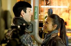 an Enterprising pair -  Star Trek Into Darkness -  Spock & Uhura