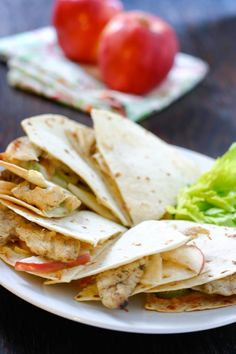 Chicken and Apple Quesadillas