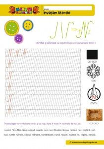 N Archives - Manute Pricepute Worksheets For Kids, Kindergarten Worksheets, Cursive Letters, Nicu, Stories For Kids, Bookmarks, Montessori, Activities, Education