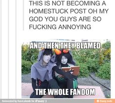 This was a post about not judging fandoms for a few fans behavior