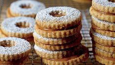 Pretzel Linzers with Salted Caramel - Deb Perelman's Smitten Kitchen recipe for salty-sweet cookies that have a caramel filling you can totally pull off at home. Sweet Cookies, Cut Out Cookies, No Bake Cookies, Sweet Treats, Linzer Cookies, Pretzel Cookies, Gooey Cookies, Cookie Recipes, Dessert Recipes