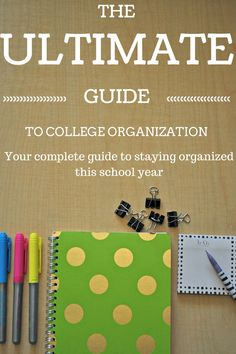 Staying organized isn't easy in college- at least, without this guide it isn't! Tips for managing time as a college student.