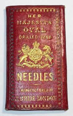 Red antique needle case ~ Civil War Era.