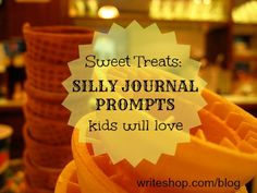 Silly journal prompts make writing fun! Kids will describe ice cream flavors and imagine a toothbrush and chocolate bar debate with these writing prompts.