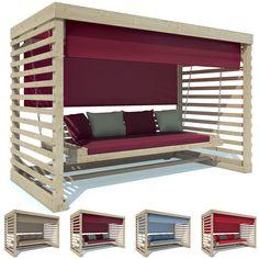 Hollywoodschaukel Tiffany Holz Gartenschaukel Schaukelbank Gartenmöbel 4-Sitzer in Garten & Terrasse, Möbel, Hollywoodschaukeln | eBay!