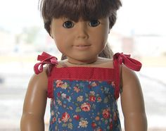 At this time last year, we released our Popover Sundress sewing pattern as a free download. Shortly after that, S asked me to make a Popover Sundress for her favorite doll, Samantha, to match a dre…