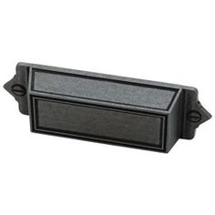 Martha Stewart Living 3 in. Soft-Iron Bracket Bin Pull-136248 at The Home Depot