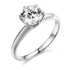 14k White Gold SOLID Wedding Engagement Ring - Size 4 TWJC Wedding Collection http://www.amazon.com/dp/B004968XRI/ref=cm_sw_r_pi_dp_D5xTwb1C3G65J