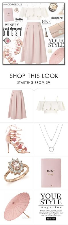 """""""Best Dressed Guest: Winery"""" by adnaaaa ❤ liked on Polyvore featuring Miss Selfridge, Christian Dior, Topshop, Marchesa, Garance Doré, Bloomingdale's, Kate Spade, Cultural Intrigue, Pussycat and La Mer"""