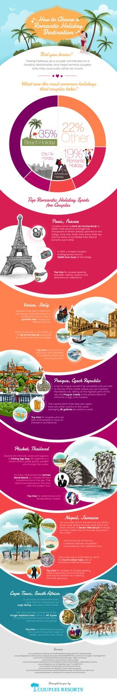 How To Choose A Romantic Holiday Destination #infographic #Travel #HowTo #Relationship