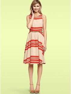 Striped swing dress | Gap