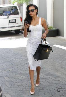 Naya Rivera in white Naya Rivera Hot, Glamour Mexico, Love Fashion, Womens Fashion, Fashion Design, Edgy Dress, Classy Dress, Hollywood, Classy Outfits
