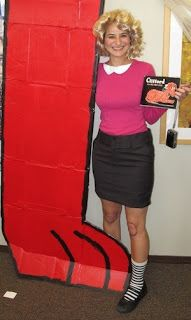 """Clifford"" Halloween costume....For those elementary schools that have kids dress up like a characters from a book."