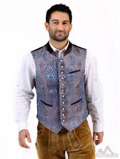http://www.trachten24.eu/Trachtenweste-Quirin-exclusiv-blau - Trachtenweste Quirin exclusiv - Bavarian vest Quirin exclusive