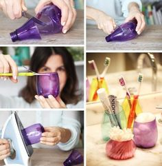Plastik şişelerden dekoratif bardaklar… | KD Haber-En Son Haberler