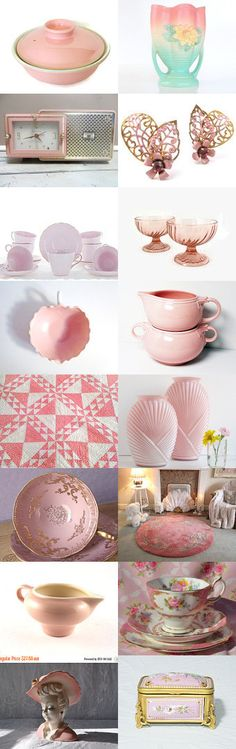 Vintage Pretty in Pink by Donna Harding on Etsy--Pinned+with+TreasuryPin.com