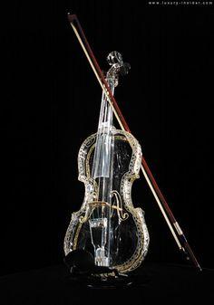 *Violin....looks like ice!..beautiful!