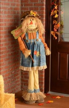 Welcome your guests into your home with our adorable Fall Harvest Scarecrow! She is free-standing and would be a great addition to your home! #kirklands #harvest