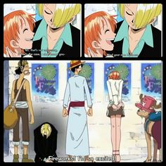 Sanji, Nami, Usopp, Luffy, Chopper, funny, text, quote, comic, fireworks, show, matsuri, festival, rejected, gloom, One Piece; Photo Collages
