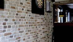 Faux Brickwork Wall Panels for Interiors Faux Brick Wall Panels, Brick Wall Paneling, Spa, Bar Design, Brickwork, Interior And Exterior, Light Clay, Stone, Blog