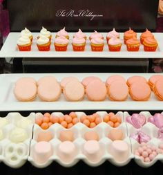 Ombre Pink Dessert Table Bridal/Wedding Shower Party Ideas   Photo 8 of 10   Catch My Party