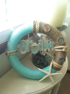 Beach Themed Wreath by HouseOfTheBurgesses on Etsy, $54.99