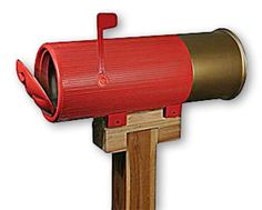 Shotgun Shell Mailbox.  Burglars might think twice at this house!  #mailbox #shotgun