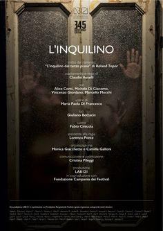 News di Spaghetti italiani - 22 e 23 giugno - Castel Sant'Elmo - L'inquilino di LAB121 - regia Claudio Autelli al FRINGE FESTIVAL DI NAPOLI
