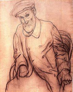 Portrait of Pierre Auguste Renoir - Pablo Picasso, 1919
