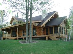 Exterior picture of our beautiful log home designs number 7