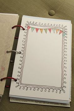 draw borders and print copies on vellum or paper, add color and extra details - quick fun additions to journal
