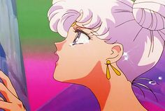 Neo Queen Serenity right before the Moon Kingdom is destroyed.