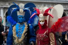 Red and Blue - Venice Carnival 2012 via Fest 300