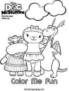 Doc McStuffins Friends Coloring Pages For Kids Printable