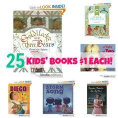 Kindle Deals: 25 Kids' Books $1 Each! | Free Homeschool Deals