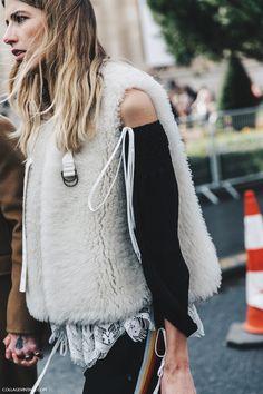 Rollickthelabel.com.au - inspiration PFW-Paris_Fashion_Week_Fall_2016-Street_Style-Collage_Vintage-Veronika_Heilbrunner-Fur_Vest-Chloe-