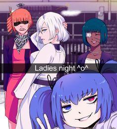 """Ladies Night""     Shirazu, Sasaki, Mutsuki, and Saiko     Tokyo Ghoul: Re Fan Art"