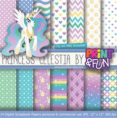 Sofia The first Digital Paper Background Clip art by Printnfun