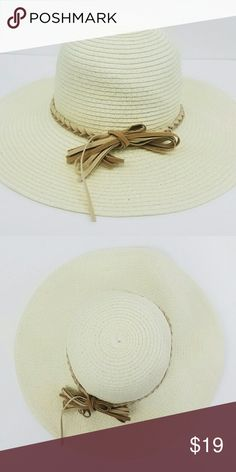 Summer Straw Hat with knotted  bow on Side Summer Straw Hat Accessories Hats
