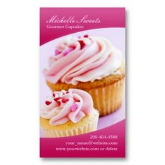 Blonde baker cupcake business cards d12 this great business card blonde baker cupcake business cards d12 this great business card design is available for customization all text style colo colourmoves